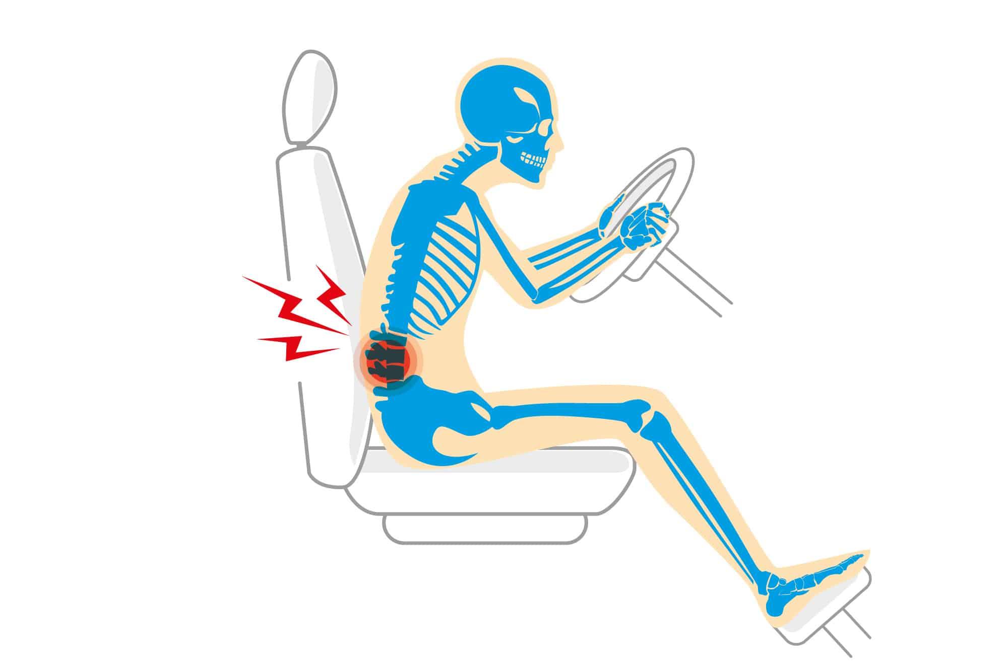 Dolori alla schiena quando guidi? Il comfort dipende anche..